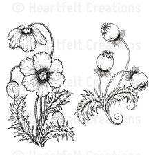 Heartfelt Creations Cling Stamp Set  BLAZING POPPY STEMS ~ Blazing Poppy ~3677