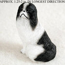 Japanese Chin Mini Hand Painted Figurine Black/White