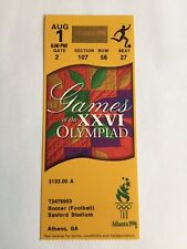 USWNT U.S. Soccer 1996 Atlanta Olympics Gold Medal Ticket Stub NM-MT 8++ Soccer