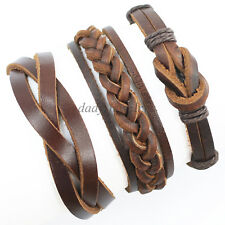 3pcs Hand Woven Leather Bracelet, Bracelet Jewelry, Mens Wrist Bands, Unisex-X20
