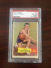 1957 Topps Jack Twyman    graded PSA 8(MC) NM-MT   Basketball Card