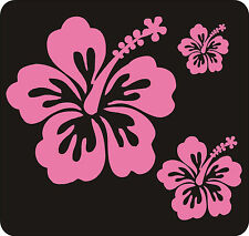40 Rosa Hibiscus Flor pegatinas de pared Dormitorio Windows calcomanías gráficos
