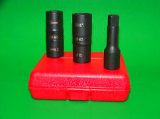 3pc Air Impact Flip Sockets Lug Nut Remover Installer