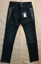"PHILIPP PLEIN HERREN JEANS STRAIGHT CUT ""NO NAME""/ W32 / NEU /"