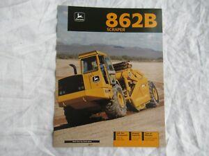 1992 John Deere 862B scraper brochure