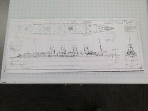 SS LUSITANIA ship plans