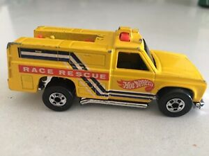 Hot Wheels Vintage 1974 Race Rescue Fire Emergency Truck Yellow Malaysia Rare