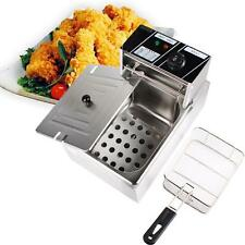 6L Electric Countertop Deep Fryer Commercial Basket Tank French Fry Restaurant