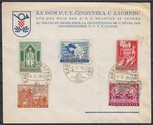 Yugoslavia Mi 413, 414, 415, 416, 417 Mif Special Letter Sst Zagreb 1940