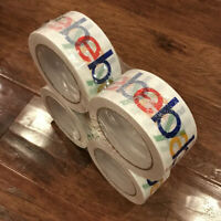 """4 ROLLS OF OFFICIAL eBAY Branded TAPE PACKING SHIPPING SUPPLIES 75 yds x 2"""" NEW"""