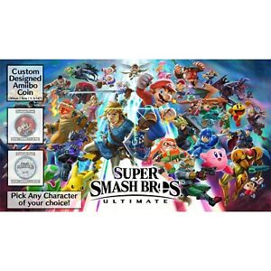 Super Smash Bros Custom Amiibo COIN   Pick Any - Compatible w / Wii U/3DS/Switch