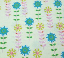 Forest Friends BTY Anton & ink Camelot Cottons Teal Lime Pink Floral on Yellow