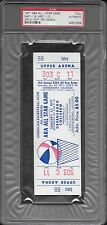 1971 ABA All Star Game Unused/Full Ticket Psa 1/1 AND Signed Program (Barry etc)