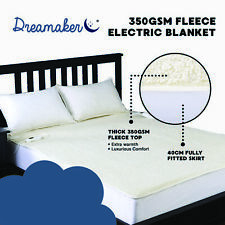 2019 PREMIUM ELECTRIC BLANKETS FLEECY QUILTED SOFT Heated Bed FITTED ALL SIZE