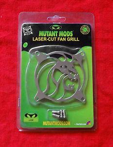 Mutant Mods Lion 80mm Silver Chrome Laser Cut Fan Grill Guard by Startech.com