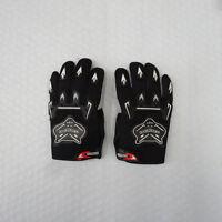BLACK Kids Children Motorcycle Gloves Motorbike Gear Motorcross S-M-L Size