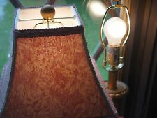 Lamps/Lot of 2 Vintage Victorian Style  Portable Lamps w/Mauve  Cloth Shades