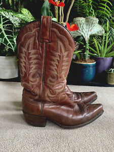 R.soles Cowboy Boots By  Judy Rothchild Design Brown Leather Size 4
