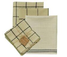 Park Designs 4-Piece Five Farm Black Dish Towel Set 100% Cotton