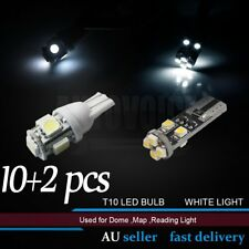 10x T10 5LED Dome Side Number Plate Light Park Bulb + 2x T10 8LED No Error White