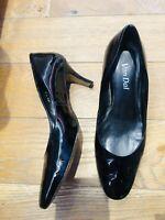 Van Dal Black Patent Leather Black Court Shoes Size 7 Slip On Shoes Low Heel