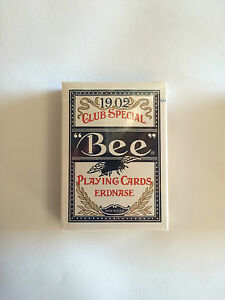 BEE ERDNASE 1902 SMITH NO.2 BACK BLUE DECK PLAYING CARDS POKER MAGIC TRICKS GAME