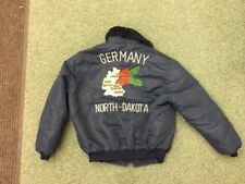 ww2 era satin jacket Germany North Dakota vintage Rare unusual military piece