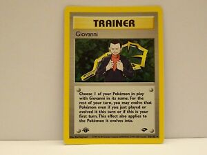POKEMON CARD TRAINER 18/132 GYM CHALLENGE  HOLO 1ST EDITION NEAR MINT TO MN.