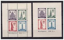 ALLEMAGNE .BADE .BF N ° 2 A + 2 B. 2 BLOCS FEUILLETS   NEUF  **. SUPERBE