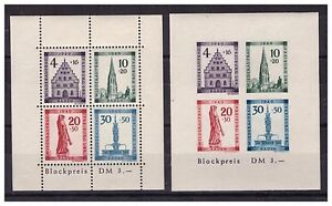 ALLEMAGNE .BADE .BF N ° 2 A + 2 B. 2 BLOCS FEUILLETS   NEUF  **. SUPERBE.