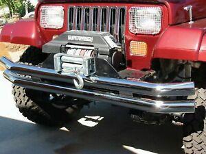 Rampage For Jeep CJ5 / CJ7 / YJ /TJ Double Tube Front/Rear Bumper S.Steel - 8449