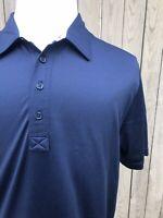 Travis Mathew Men's Blue Polo Shirt Size Large
