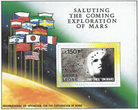 Face On Mars Space Coming Exploration Stamps Sheets Sets Sierra Leone 1990