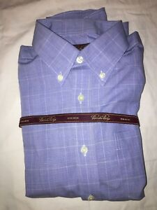 Brooks Brothers - Blue and White Non Iron Dress Button-Up Shirt