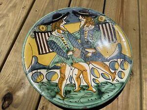 17thC Florence Italian Piatto Montelupo Maiolica Tin Glazed Earthenware Plate