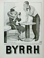 PUBLICITÉ DE PRESSE 1935 APÉRITIF AU QUINQUINA BYRRH - AU CAFÉ
