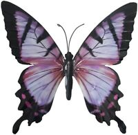 Large Purple Metal Butterfly Garden Ornament Wall Art Decoration GIFT BOX