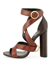 Tom Ford Two Tone Brown Wrap Around Sandal Ring $1290 36.5 6.5