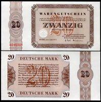 GERMANY 20 DEUTSCH MARK BETHEL 1958-1973 UNC