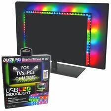 USB LED TV Backlight RGB Strip Light TVs Computer Mood Lighting Moodlight RC 65""