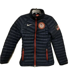 Nike Team USA Olympic Puffer Jacket Women's Size Small Aeroloft 614216-451
