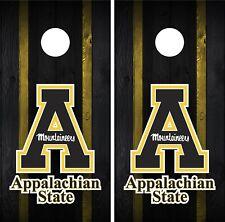 Appalachian State Cornhole Wrap Decal Stickers Vinyl Gameboard Skin Set JC141