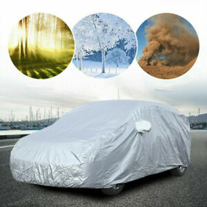L Full Car Cover For Truck SUV Van WaterProof In Out Door Dust UV Ray Rain Snow