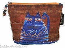 Laurel Burch Azul Cat Organizer Bag Pouch Makeup Craft Jewelry Meds Personal NEW