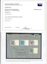 Franz. Zone Rheinland 42A-45A Brief, Randsatz, Vollstempel, Befund