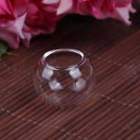 1x Dollhouse Miniature Mini Fish Tank Mini Glass Bowl Doll House Accessor ME