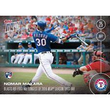 NOMAR MAZARA 2016 Topps Now ROOKIE CARD RC - Only 996 Printed - Texas Rangers