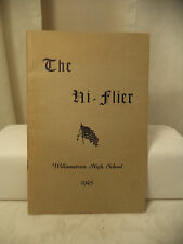 1945 Williamston Vermont High School Yearbook The HI Flier small softcover
