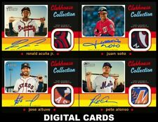 Topps BUNT HERITAGE 2020 CLUBHOUSE COLLECTION Srs 3 [4 CARD SIGNATURE RELIC SET]