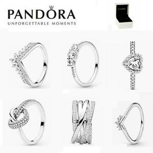 ALE S925 Genuine Silver Pandora Sparkling Ring & With Gift Box UK